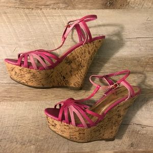 Pink bamboo brand wedges
